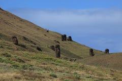 Moai staty på påskön Royaltyfri Bild
