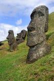 Moai statyer på påskön Fotografering för Bildbyråer