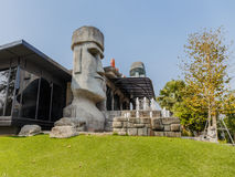Moai stenstatyer Royaltyfri Foto