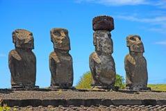 Moai Stone Statues at Rapa Nui - Easter Island. Polynesia, Chile royalty free stock photography