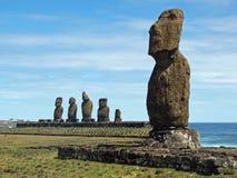 Moai sull'isola di pasqua Fotografie Stock Libere da Diritti