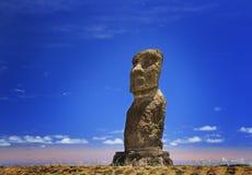 Moai Vai Uri Ahu Στοκ Φωτογραφία