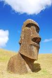 Moai van Raraku van Rano Stock Foto's