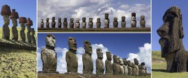 Moai von Osterinsel - South Pacific stockfoto