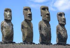 MOAI W WIELKANOCNEJ wyspie, CHILE fotografia stock