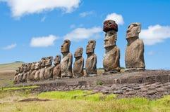 moais острова пасхи Стоковая Фотография