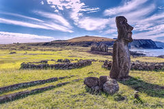 Moai in Ahu Tongariki Easter Island Chile