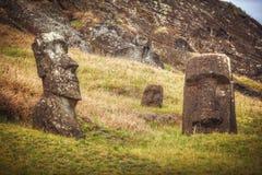 Moais at Ahu Tongariki Royalty Free Stock Image