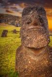 Moais at Ahu Tongariki Stock Images