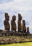 Moais on Easter Island, Chile Royalty Free Stock Images