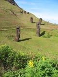 Moais de la isla de pascua Imagen de archivo libre de regalías