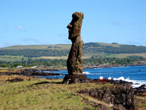 Moais of Easter Island. Ahu Tahai. Moais of Easter Island Stock Images