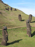 Moais of the Easter Island Royalty Free Stock Image