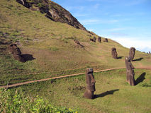 Moais of Easter Island. Ahu Tahai. Moais of Easter Island Royalty Free Stock Photography