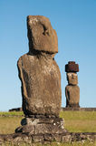 Moais in Easter island. World Heritage Royalty Free Stock Images