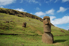 Moais - Easter Island Royalty Free Stock Image