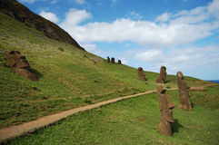 Moais - Easter Island Royalty Free Stock Images