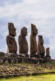 Moais na Wielkanocnej wyspie, Chile Obrazy Royalty Free