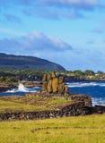 Moais na Wielkanocnej wyspie, Chile Fotografia Royalty Free