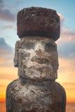Moais przy Ahu Tongariki Obraz Stock