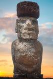 Moais przy Ahu Tongariki Obrazy Stock