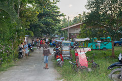 MOALBOAL FILIPINY, GRUDZIEŃ 29, 2012 - Roczna koguta Derby walka - Zdjęcia Stock