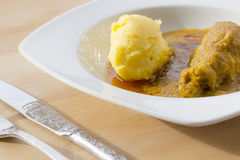 MOAMBA传统非洲食物 免版税库存图片