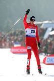 Moan (NOR). Winner of the gudersen1, FIS WORLD CUP NORDIC COMBINED. Chaux Neuve France.January 31,2009 Royalty Free Stock Image
