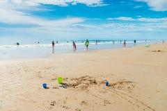 Moana海滩,南澳大利亚 图库摄影