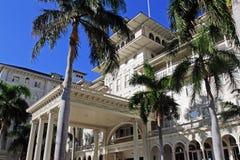 The Moana Hotel, Waikiki, Oahu, Hawaii. The Moana Hotel, also known as the First Lady of Waikiki, is a famous historic hotel on the island of Oahu Stock Photo
