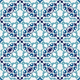 Moasic tiled oriental vector. Mosaic tiled oriental vector blue  seamless background Royalty Free Stock Image