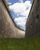 Moat. Formidable moat of a big fortress in Hungary Royalty Free Stock Image