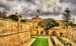 Moat of ancient Mdina city Royalty Free Stock Photos