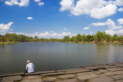 The Moat of Angkor Wat Royalty Free Stock Photography