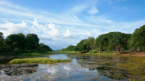 The moat around Banteay Chhmar Temple in Cambodia Stock Images