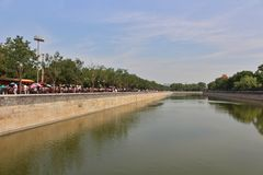 The moat around the Forbidden City Stock Photography
