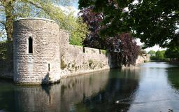 Moat and Bishops Palace Royalty Free Stock Image