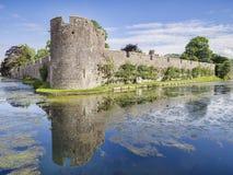 Moat Bishops Palace Wells UK royalty free stock photo