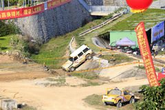 Moat of the buggy training and competition field. Buggy training and competition field, xiamen city, china. buggy game is very popular in china now Royalty Free Stock Photo