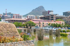 Moat,  Cape Town central business district and Lions Head Royalty Free Stock Photo