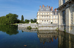 Moat of the chateau de Fontainebleau royalty free stock photos