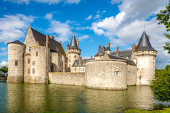 Moat with chateau of Sully sur Loire Stock Image