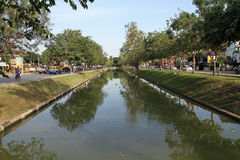Moat in Chiang Mai Royalty Free Stock Photography