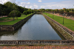 Moat of Citadel. The Imperial City in Hue is a walled fortress and palace in the former capital of Vietnam Stock Image