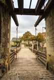 Moat and drawbridge of ancient castle Royalty Free Stock Photography
