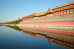 Moat, Forbidden city Royalty Free Stock Photos