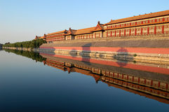 Moat, Forbidden city Royalty Free Stock Photos