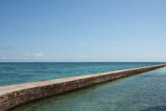 Moat at Fort Jefferson Stock Photos