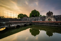 The moat at Fort Santiago at sunset, in Intramuros, Manila, The Royalty Free Stock Photos