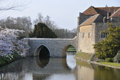 Moat at Leeds Castle Stock Photography